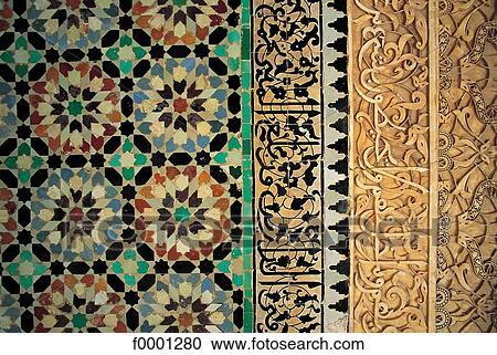 Archivio fotografico arte islamica terracotta ceramica