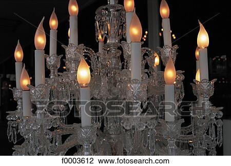 Antike Kronleuchter Frankreich ~ Stock foto kronleuchter gegenstand gegenstände kristallglas