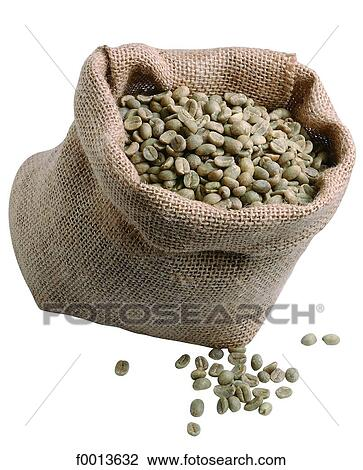 Unroasted Coffee Beans >> Sack Of Unroasted Coffee Beans Stock Image F0013632