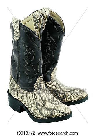 World symbols cowboy boots (USA) Stock Image