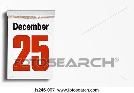 Weihnachten Datum.Weihnachten Datum Auf Kalender Stock Foto
