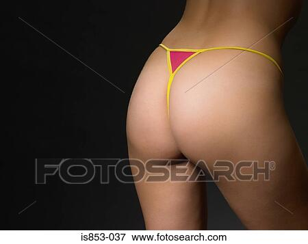 Picture of Woman wearing thong is853-037 - Search Stock Photography ... 3158f8eba