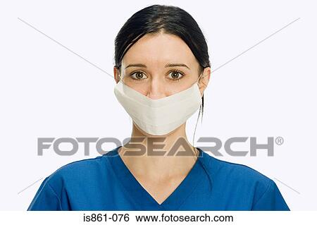 Stock Wearing Surgical Photograph Surgeon Mask