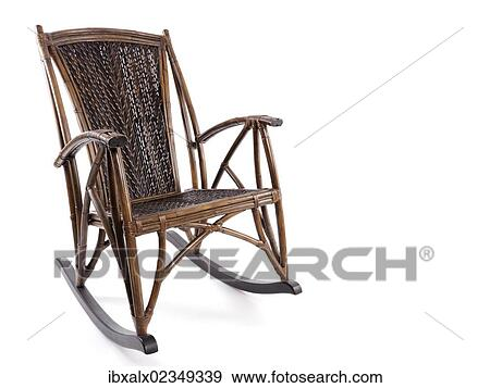 Fine Antique Bamboo Wicker Rocking Chair Stock Photo Dailytribune Chair Design For Home Dailytribuneorg