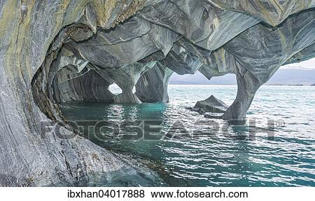 Marble Caves General Carrera Lake Puerto Tranquilo Aysen Region Chile South America Stock Photo Ibxhan04017888 Fotosearch