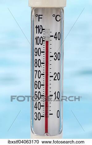 Piscina Termometro Actuacion 100 Grados Fahrenheit Coleccion De Imagen Ibxstf04063170 Fotosearch Resta la cantidad que se quiera transformar con 32. piscina termometro actuacion 100 grados fahrenheit coleccion de imagen