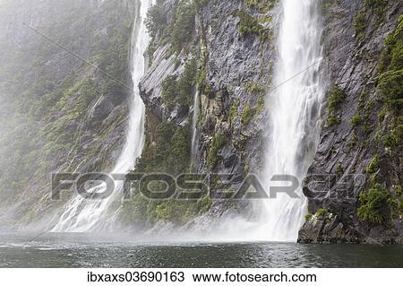 The Fairy Falls In Milford Sound Fiordland National Park