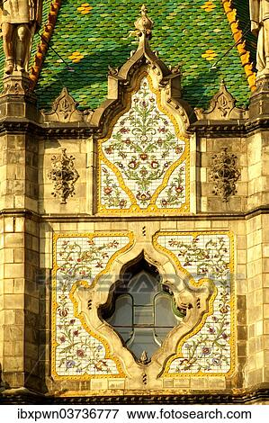 Zsolnay Tiled Roof Museum Of Applied Arts Designed By Lechner Odon Secession Art Nouveau Budapest Hungary Europe Stock Photo Ibxpwn03736777 Fotosearch