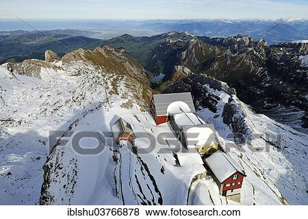 Alter Saentis Mountain Inn On The Summit Of Saentis Mountain