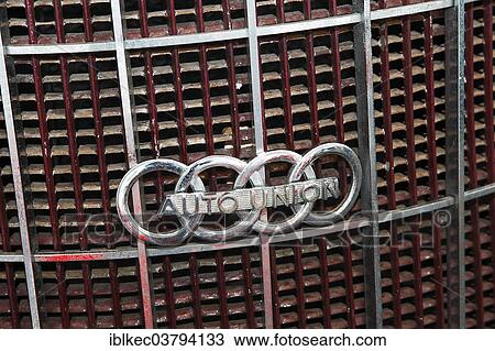 Stock Photo Of Auto Union Present Day Audi Logo On A Car