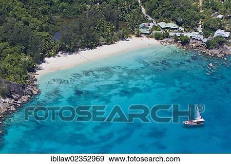 Beach Of Anse Soleil Mahe Seychelles Africa Indian Ocean