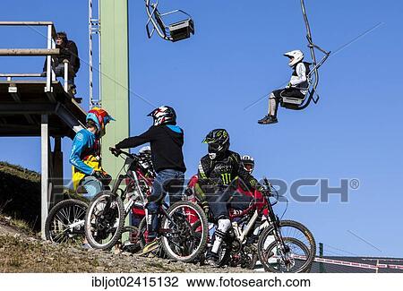 Stock Photo Of Bike Park Downhill Mountain Bike Trail At The