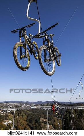 Stock Photography Of Bike Park Downhill Mountain Bike Trail At The