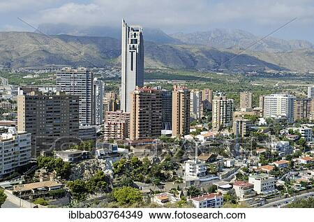 Gran Hotel Bali The Tallest Hotel In Europe High Rise Buildings Benidorm Province Of Alicante Spain Europe Stock Photo Iblbab03764349 Fotosearch