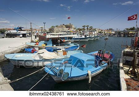 Harbour Of Sigacik Izmir Region Turkey Asia Stock Image Iblmmx02438761 Fotosearch