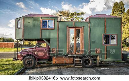 Homemade camper van, Rotorua, North