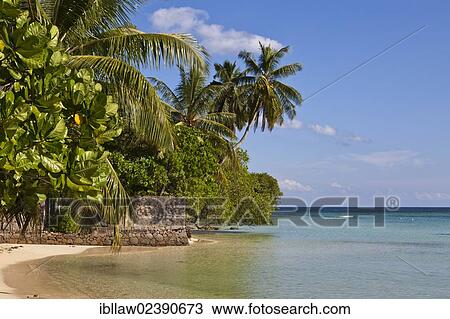 Mahe Island Seychelles Africa Indian Ocean Africa Stock