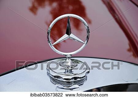 Stock Photo Of Mercedes Star Mercedes Benz Vintage Car Germany