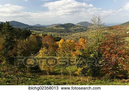 banque de photo meygal paysage automne monedeyres haute loire auvergne france europe. Black Bedroom Furniture Sets. Home Design Ideas