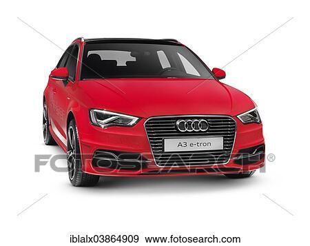 Red 2017 Audi A3 Sportback E Tron Plug In Hybrid Car