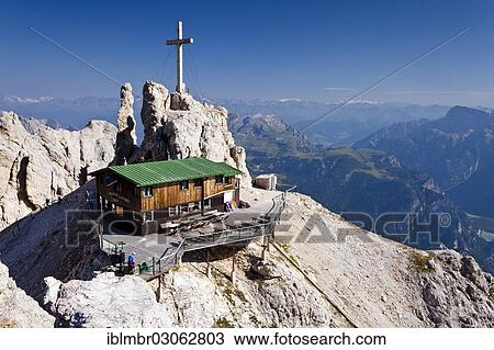 Stock Photo Of Rifugio Lorenzi Alpine Hut Dolomites Province Of