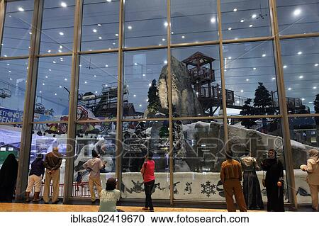 Ski Dubai Indoor Slope In The Shopping Centre Mall Of Emirates United Arab Middle East Asia
