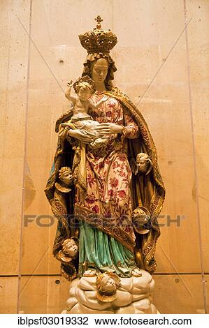 The Virgin Mary And Child Statue Cathedral Of Our Lady Of The Angels Los Angeles California United States North America Stock Image
