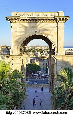 Triumphal Arch Of The Bastione San Remy Cagliari Sardinia