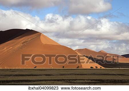 Sand Dunes Dune 45 Sossusvlei Namib Desert Namib