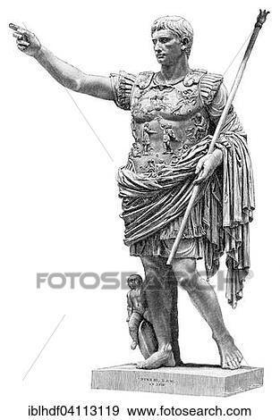 stock fotografie augustus of gaius octavius de
