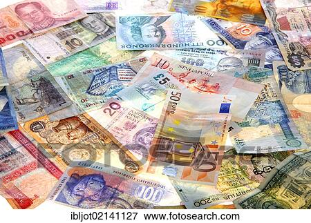 Banknotes Diffe Currencies From Around The World Foreign Exchange Stock Photo