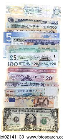 Banknotes Diffe Currencies From Around The World Foreign Exchange
