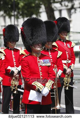 stock photo of guards wearing bearskin hats veterans day in london