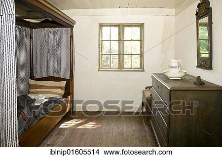 Stock Photo Of Old Bedroom The Funen Village Open Air Museum