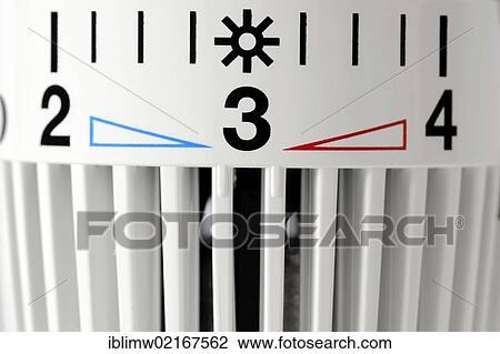 Stock Foto - thermostatic, zentralheizung, ventil, heizkörper ...