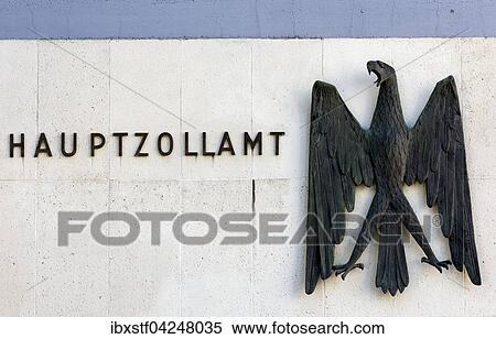 Stock afbeelding douane bureau augsburg beieren duitsland