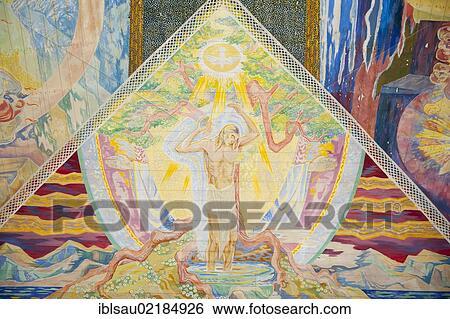 banque dimage christianisme moderne art color plafond peinture par lous mohr trinity 1938 peinture de jsus christ intrieur oslo