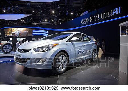 Stock Photo The Hyundai Elantra Plug In Electric Car Developed For Future Production