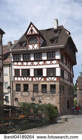 Albrecht Dürer Haus Nürnberg stock photo of albrecht durer haus, nurnberg, mittelfranken, bayern