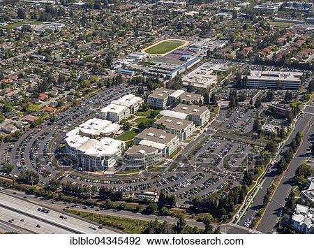 Apple Campus I or Apple Campus 1, Cupertino, Silicon Valley, California,  USA, North America Stock Image