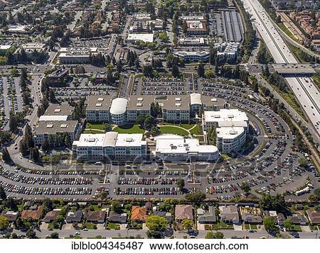 Apple Campus I or Apple Campus 1, Cupertino, Silicon Valley, California,  USA, North America Stock Photo