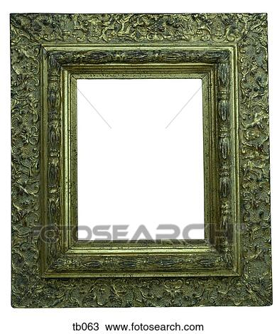 Stock Photo of Photograph of 2 ornate gilt picture or mirror frames ...