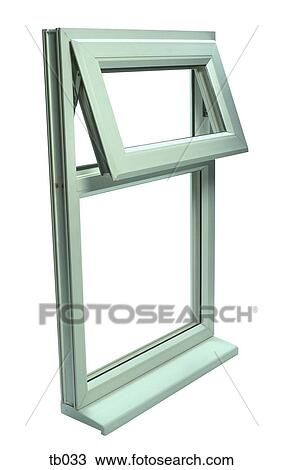 Stock Photo of Photograph of a uPVC window frame tb033 - Search ...