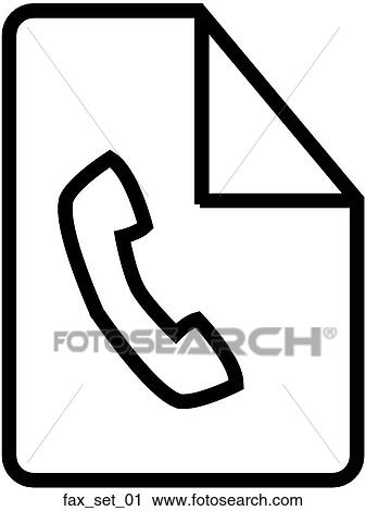 clipart of web page fax symbol icon fax set 01 search clip art rh fotosearch com fox clipart free fox clipart images