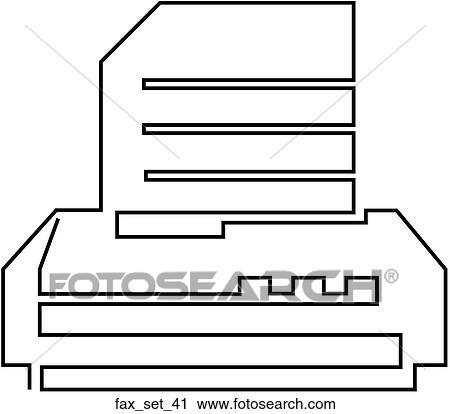 clipart of web page fax symbol icon fax set 41 search clip art rh fotosearch com fax clip art black and white fox clipart free