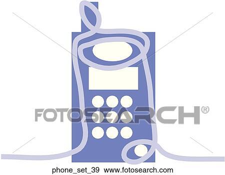 Stock Illustration Of Web Page Telephone Symbolicon Phoneset39