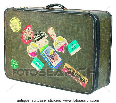 stock images of antique suitcase stickers antique suitcase stickers