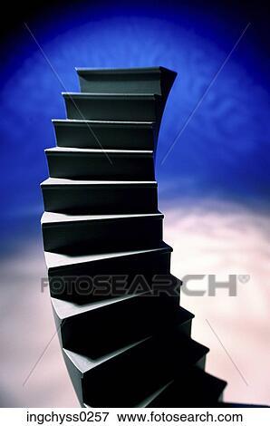 Steps, progress, stairway, blue, still, abstract, death Stock Photo