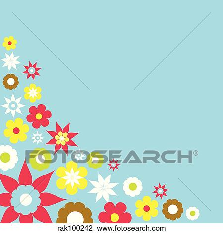 Clip art of spring flowers rak100242 search clipart illustration clip art spring flowers fotosearch search clipart illustration posters drawings mightylinksfo