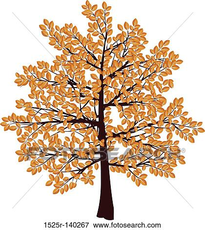 stock illustration of autumn tree 1525r 140267 search eps clipart rh fotosearch com autumn tree clipart black and white autumn tree clipart png